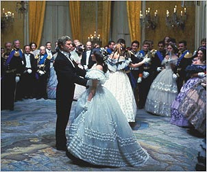 Lancaster as Don Fabrizio Prince of Salina and Claudia Cardinale as Angelica the daughter of the rising bourgeois Don Calogero.