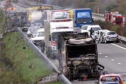 Lorries in Motorway Accident