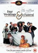 Four Weddings and funeral DVD Cover