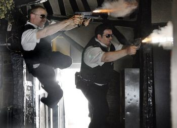 Hot Fuzz Flying Cops