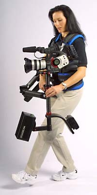 Woman with Steadicam System
