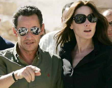 Sarkozy with supermodel