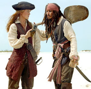Knightley and Depp Pirates
