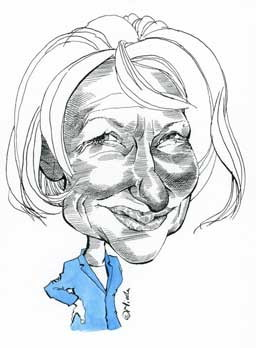 Helen Mirren Cartoon