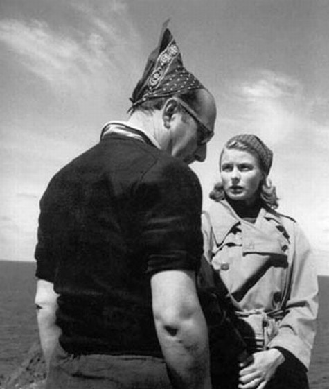 Rossellini and Ingrid Bergman 1