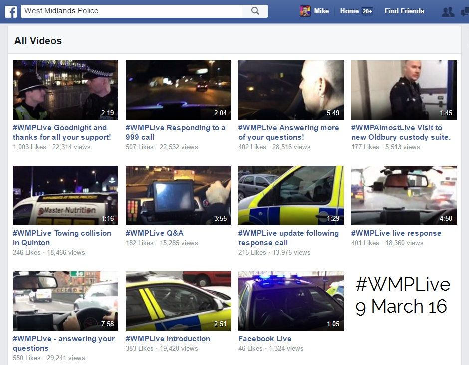 west midlands police live facebook with Supt Kerry Blakeman