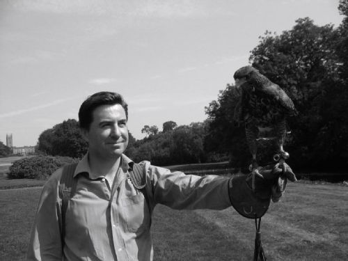 David Morley with Hawk, Warwick