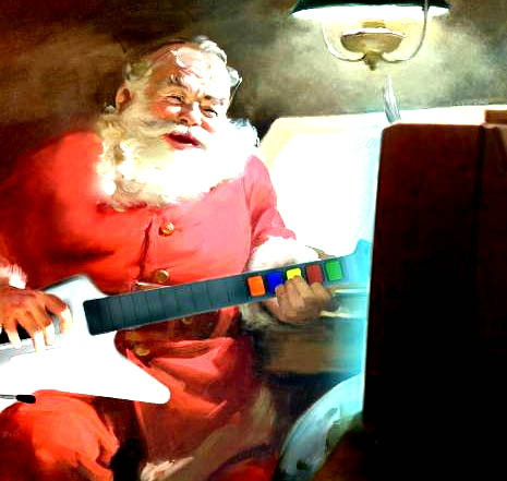 Santa Claus exists and he likes Guitar Hero, kids!