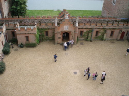 Oxburgh Hall - The Courtyard