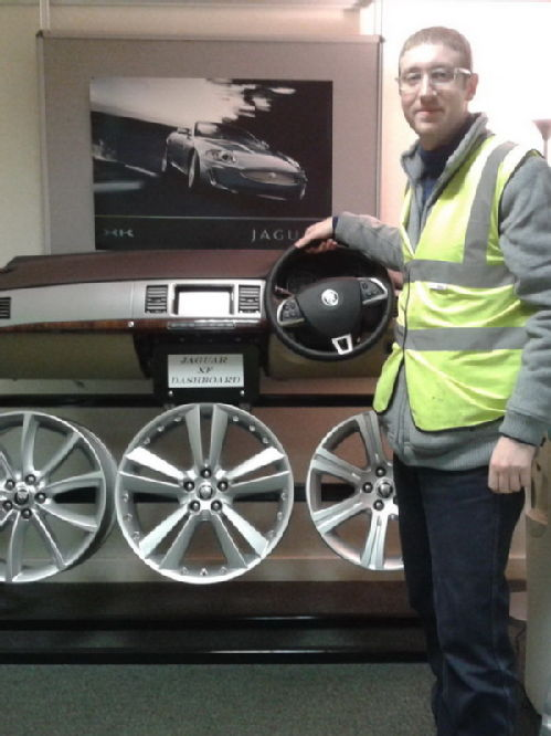 me at Jaguar plant 2