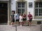 The gang outside Karl Marx's house in Trier