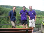 Joe, Ant and Colin at Burg Eltz