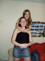 Lis and me in my room at Rootes