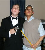James Bond and a poncy golfer