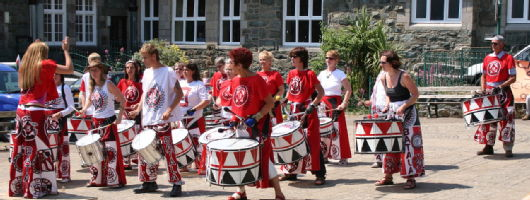 The local drum band