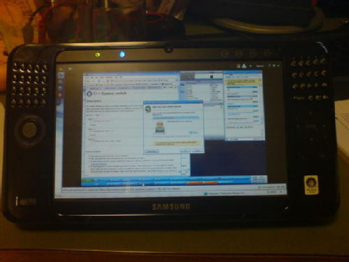 Using the UMPC to use LogMeIn to remote desktop to my home PC