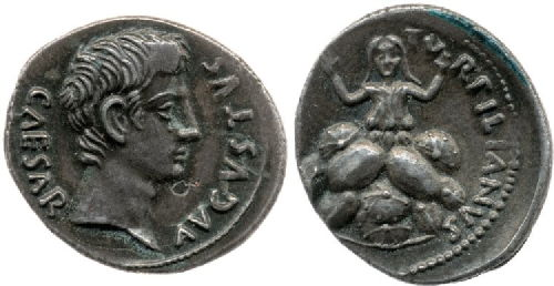 original coin showing tarpeia