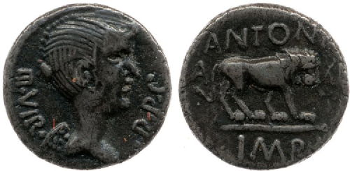 coin of antony and lion