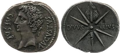 coin showing sidus iulium