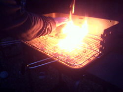 Hobo-fire-style BBQ