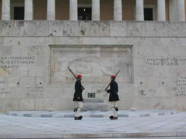 Greek guards of Parliament.