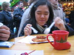 Eating at German Market.Kinda like Msian pasar malam but it was freezing.