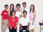See Khee on right at her sister's wedding.