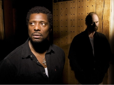 Eamonn Walker (Othello) and Tim McInnerny (Iago)