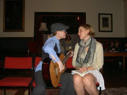 Lizz Ketterer (Hortensio) and Emily Burden (Bianca)