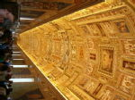 The sumptous ceiling towards the end of the Vatican tour