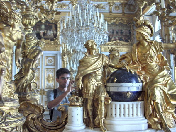 Inside Herrenchiemsee palace (looks like Versailles)