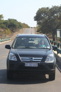 Car on Letaba bridge