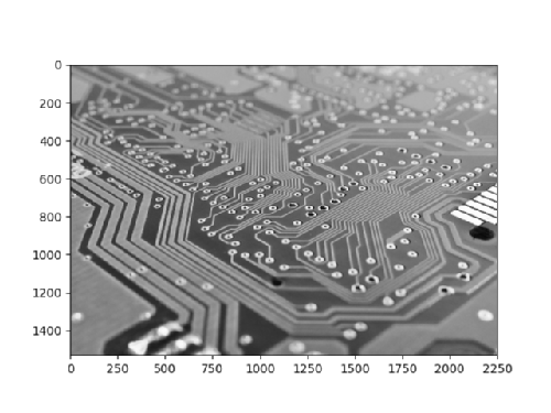 Circuit board image before smoothing