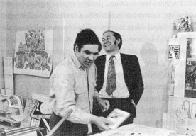 J.G Ballard and Eduardo Paolozzi together in 1968