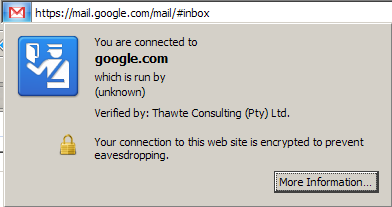 Firefox 3's encrypted notice
