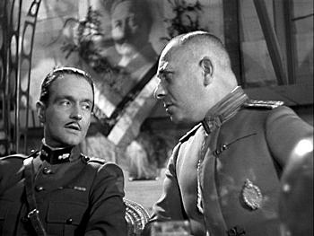 Pierre Fresnay and Erich von Stroheim in LA GRANDE ILLUSION (1937)