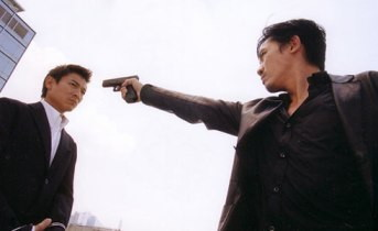Andy Lau and Tony Leung in INFERNAL AFFAIRS (2002)