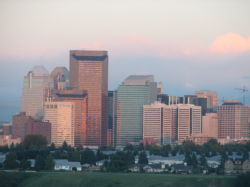 01 Downtown Calgary in the evening