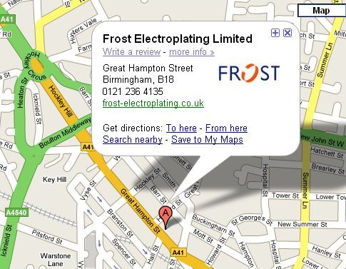 Frost Electroplating on Google Maps