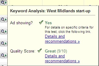 Google Adwords new Quality Score available using