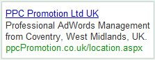 PPC Promotion Ltd Ad