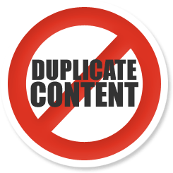 Duplicate Content Barred