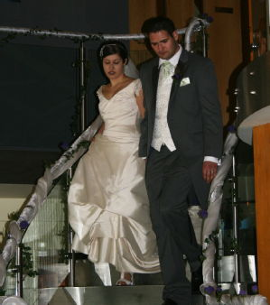 Laura & John on the Staircase