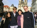02 Emily, Benedict, Leonie and Phil in old town square