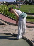 08 Leonie playing crazy golf