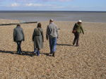 Walking on the beach at Aldeburgh