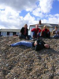 Me, Phil, Ellie, Emily and buried Jamie