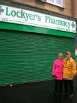 Nana and Marion outside Lockyer's pharmacy (my nana and grandpa's shop)
