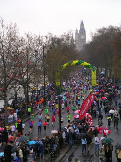 London marathon - last mile