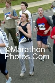 Towards the end of the Reading half marathon